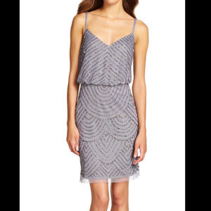 NWD Firm Adrianna Papell Sequin Mesh Blouson Dress